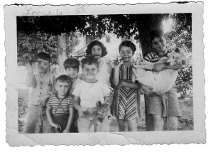 """My dad, uncle, and their friends from """"the Hill,"""" Queensborough Hill."""