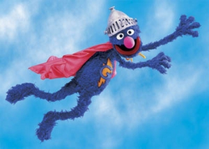 Maybe Super Grover could hold my book
