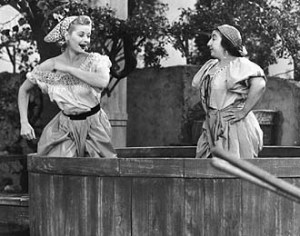 Clearly, I am Lucy stomping grapes!