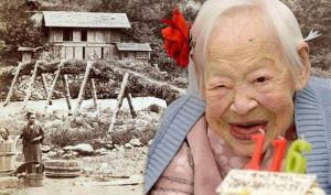 Ms. Okawa on her 116th birthday