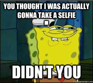 spongebob selfie