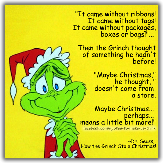 Grinch tales from a hungry life
