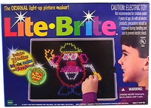 Making things with Lite Brite