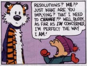Wise words from Calvin and Hobbes