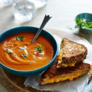 Tomato soup and grilled cheese. A perfect marriage